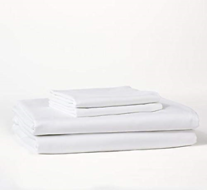 Bokser Home Sateen Bed Sheet Set — 100% Long Staple Cotton   Luxurious, and Cozy