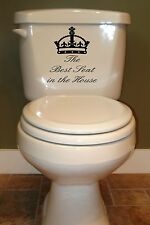 """Bathroom Decor Toilet """":The Best Seat in the House"""" Decal"""