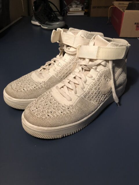 new arrival 77f1d b6eb5 Nike Af1 Ultra Flyknit Mid White Air Force 1 Mens Shoes SNEAKERS 817420-100  10