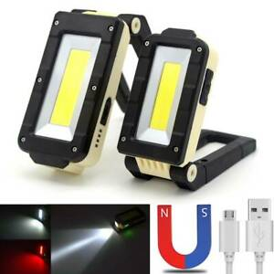 LED-Work-Light-COB-Inspection-Lamp-Magnetic-Torch-USB-Rechargeable-Car-Garage