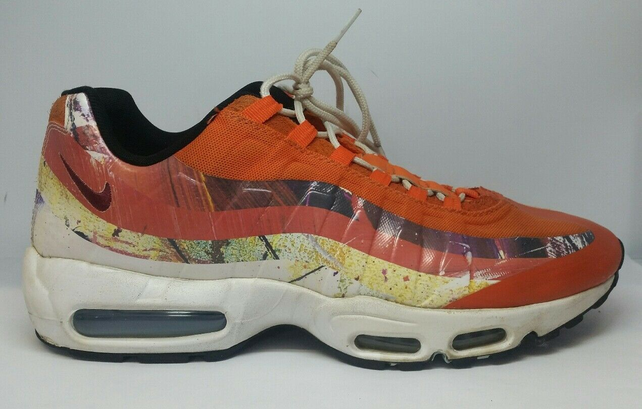 NIKE AIR MAX 95 DW DAVE WHITE FOX ORANGE SIZE 10 872640-600