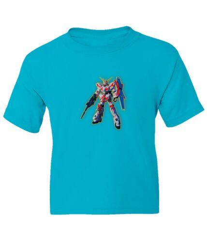 Gundam RX-0 Unicorn Red Kid Girl Boy Youth Unisex Crew Neck Short Sleeve T-Shirt