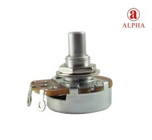 Alpha-Solid-Shaft-Potentiometer-3-8-034-Bushing-24mm-Wide-Choice-Of-Resistance