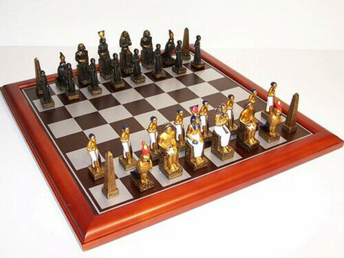 NEW IN BOX Veronese Robin Egyptian Cast Resin Chess Pieces - Board NOT Included