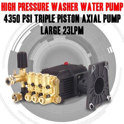 HIGH PRESSURE WASHER WATER PUMP 4350 PSI TRIPLE PISTON AXIAL PUMP LARGE 23LPM