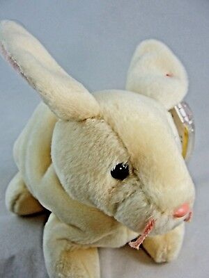 Ty Beanie Babies 1999 Nibbler Bunny Rabbit Cream  Tag Excellent PE