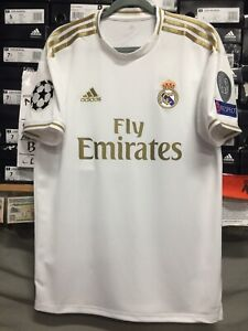 sports shoes 816ea 10297 Details about Adidas Real Madrid Home Jersey 19/20 Stadium Cut Champions  League Edition Size L