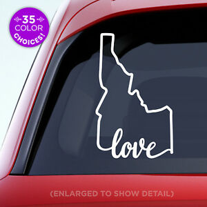 Idaho-State-034-Love-034-Decal-ID-Love-Car-Vinyl-Sticker-Add-a-heart-over-a-city