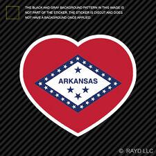 Arkansas Heart Sticker Die Cut Self Adhesive Vinyl AR love hearts pride native