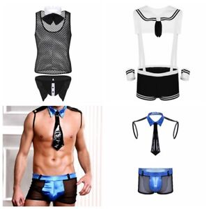 a7472a5e8e92 Image is loading Sexy-Mens-Lingerie-Police-Waiter-Sailor-Cosplay-Lingerie-