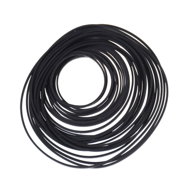 40x Small Fine Pulley Pully Belt Engine Drive Belts For Toys Module Car BCDE