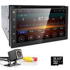 Rear Camera 2DIN Car Stereo GPS In Dash Android Radio TouchScreen DAB TV DVR OBD