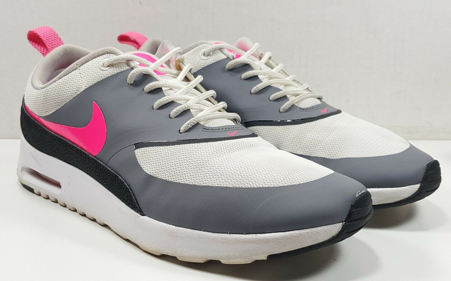 Nike Air Max Pink/Black/Cool Thea 599409-100 Running Shoes White/Hyper Pink/Black/Cool Max Grey 9.5* 411d04