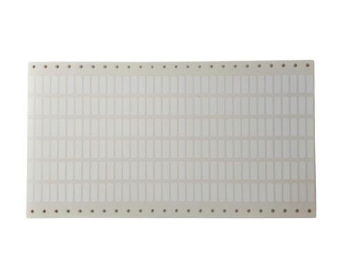 Polyester Etiketten 19x6mm weiß 216 Stück