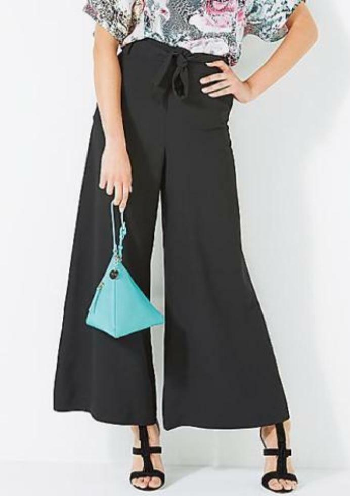Taglia 8 French Connection culotte a vita alta pantaloni pantaloni pantaloni lusinghiero versatile d41757