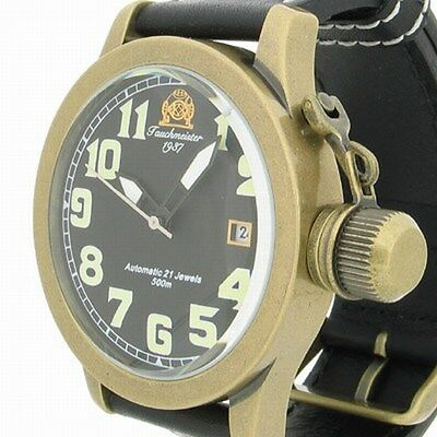 German Automatic RETRO U-Boot Crown Protection 50ATM T0112