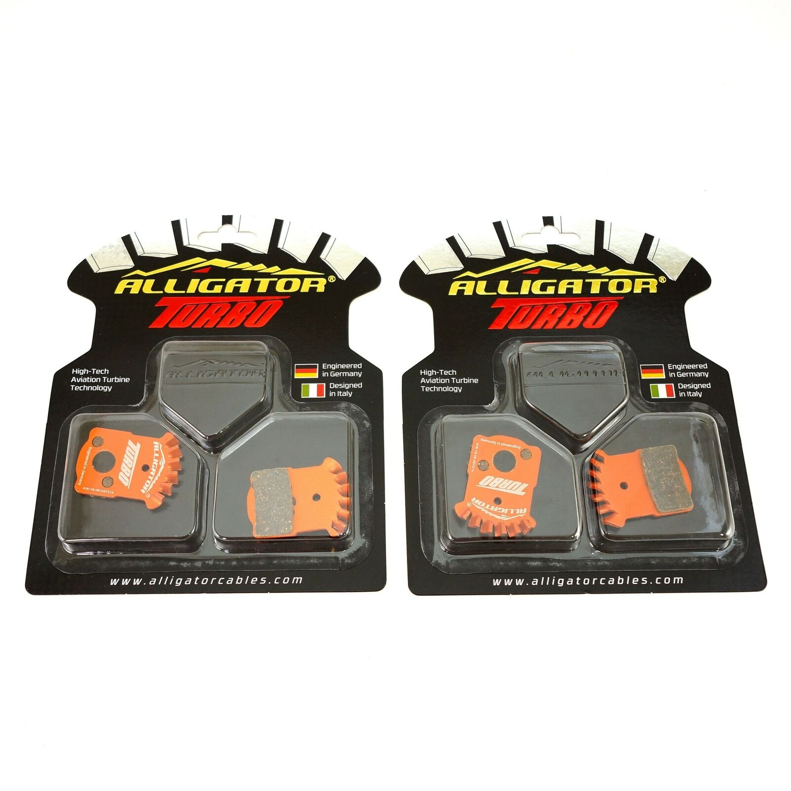 BIKEIN 4 Pairs Mountain Bike Resin Disc Brake Pads For MAGURA MT2//T4//T6//T8 DK-17