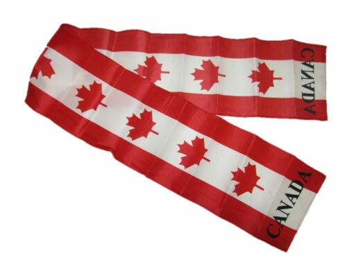 """Canada Canadian Maple Leaf Printed Knitted Style Scarf 6.5/""""x60.5/"""""""