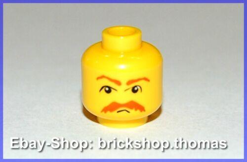 NEU // NEW Head Moustache Beard 3626bpb0041 Lego Kopf mit Bart Schnurbart