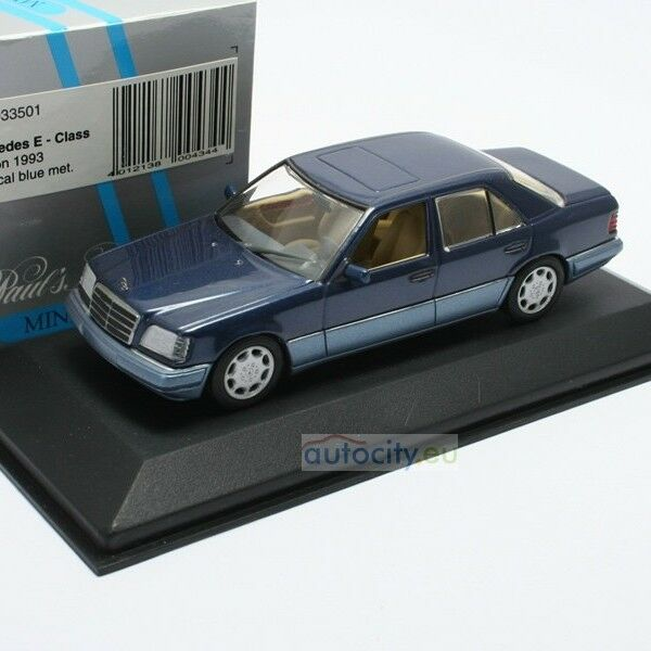 MINICHAMPS MERCEDES-BENZ E-CLASS SALOON NAUTIC BLUE METALLIC 430033501