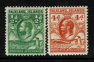 Falkland-Islands-SG-116-and-120-Mint-Hinged-Hinge-Remnant-see-notes-S4111