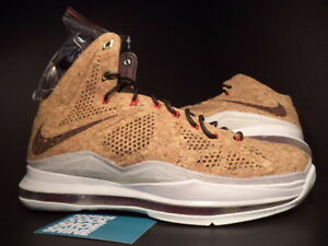 cb00c5c5c97a8 2013 Nike Air Max LEBRON X 10 EXT CORK QS BROWN RED BLACK WHITE ...