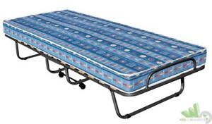 Letto pieghevole 1 piazza singolo con materasso 190x80cm tubolare 25mm ebay - Letto pieghevole con materasso ...