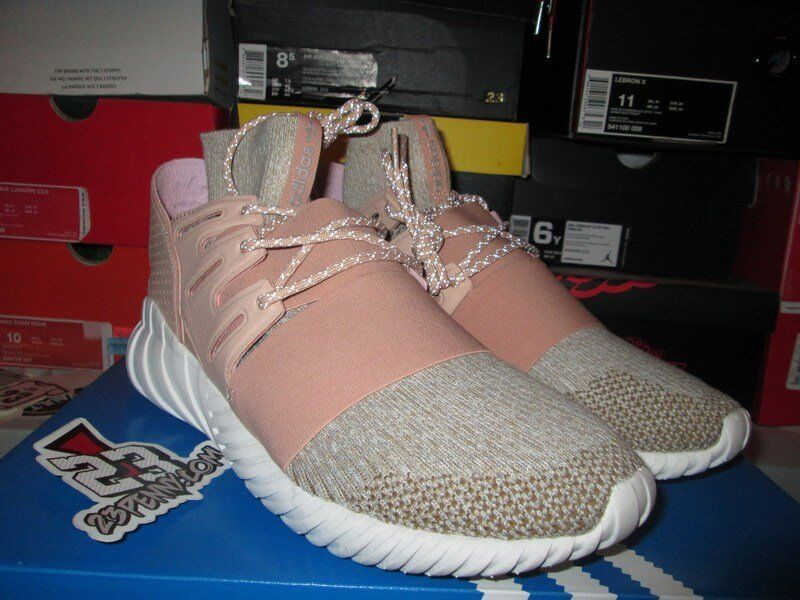 SALE ADIDAS TUBULAR DOOM PK PRIMEKNIT ST SAINT PALE NUDE BROWN BB2390