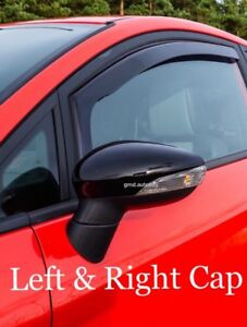 Ford-Fiesta-2008-2017-Mk7-Mirror-Cap-Case-Cover-Gloss-Black-Left-amp-Right-S-ST-RS