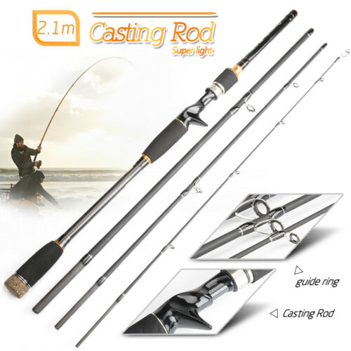 2.1M 3.0M Portable Fishing Spinning Casting Lure Rod Fiber Carbon Fishing Pole