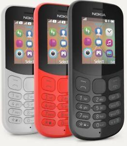 d8c3544326a Brand New 2017 mod. GENUINE Nokia 130 Dual Sim Black- Red- Grey ...