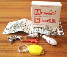 Vintage NOS Mechanical Servants Toy Charms Vending Machine NIB Party Favor