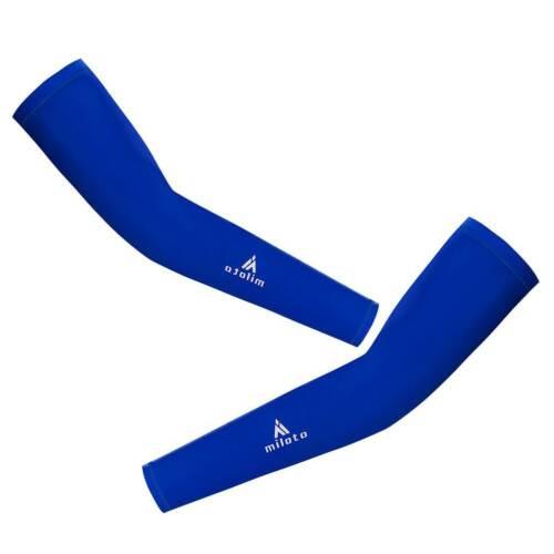 Men/'s Women/'s Cycling Arm Warmers Biking UV Sun Arm Sleeves Black//Blue//Red//White