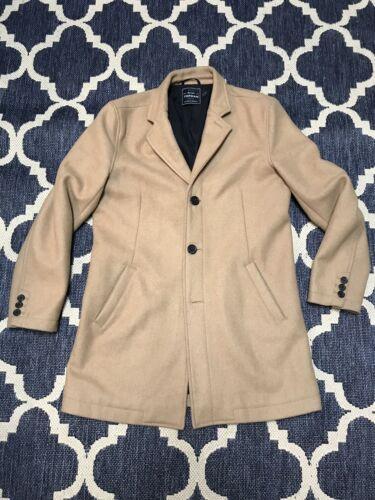 TOPMAN Camel Coat Luxury Classic Cut Warm L Large