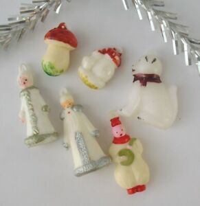 Vintage Girl Piggy Salt or Pepper Shaker Christmas Tree Ornament