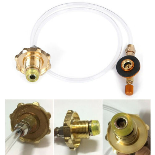 Gas Stove Propane Refill Adapter Gas Flat Cylinder Tank Coupler Outdoor Camping