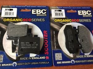 Front And Rear Brake Pads Set Scomadi TL 125 200 High Performance EBC Made In UK