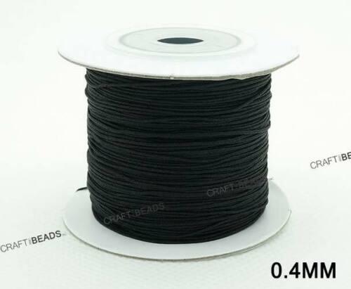 Black Chinese Knot Nylon Shamballa Macrame Braiding Cord Beading String Thread