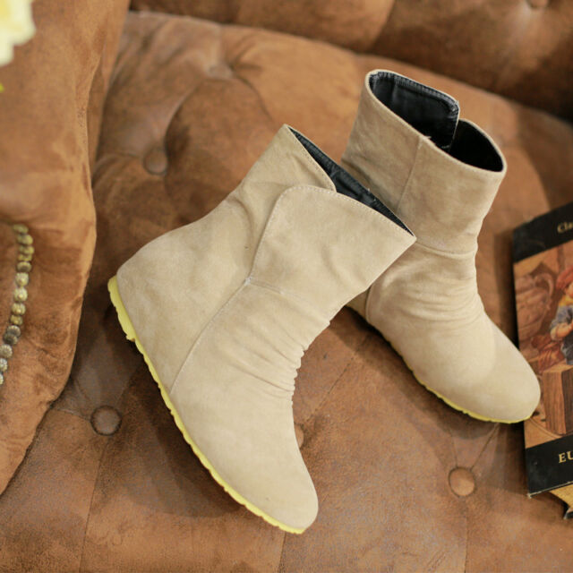 CAL US Womens Stiletto High Heel Ankle Boot Korean Boots Autumn Winter Shoes