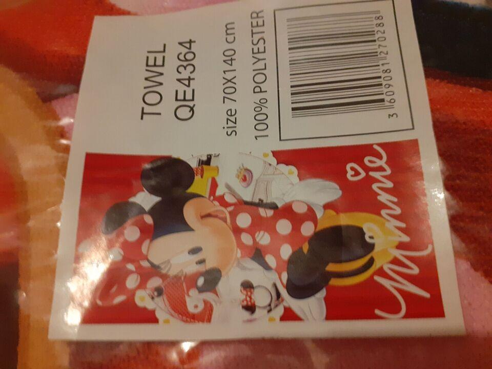 Håndklæde, NYT Minnie badehåndklæde, Minnie Mouse