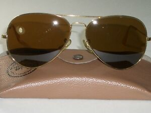 683bcc7460c VINTAGE BAUSCH   LOMB RAY BAN B15 BROWN COLOR CONTRAST LENS AVIATOR ...
