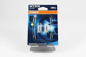 WY5W-5W-Bombilla-Osram-indicador-de-luz-de-estacionamiento-x2-Cromo-Diadema-W2-1x9-5d