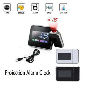 LED-Digital-Projector-Projection-Alarm-Clock-Weather-Station-Calendar-Snooze-USB