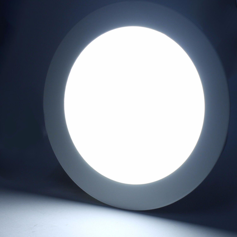 9W Profi LED Panel UNTERPUTZ  Deckenleuchte Ultraslim Einbaupanel WARMWEISS