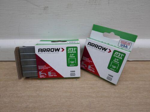 2 Packs de 1000 ARROW JT-21 JT21 agrafeuse agrafes 10 mm Type 53
