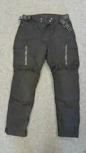 Warrior-Classic-Black-Motorcycle-Protection-Waxed-Cotton-Waterproof-Trouser-Pant