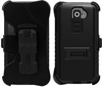 Black Tri-shield Kombo Case Skin Cover Belt Clip Holster Stand For Lg G2 Phone on sale