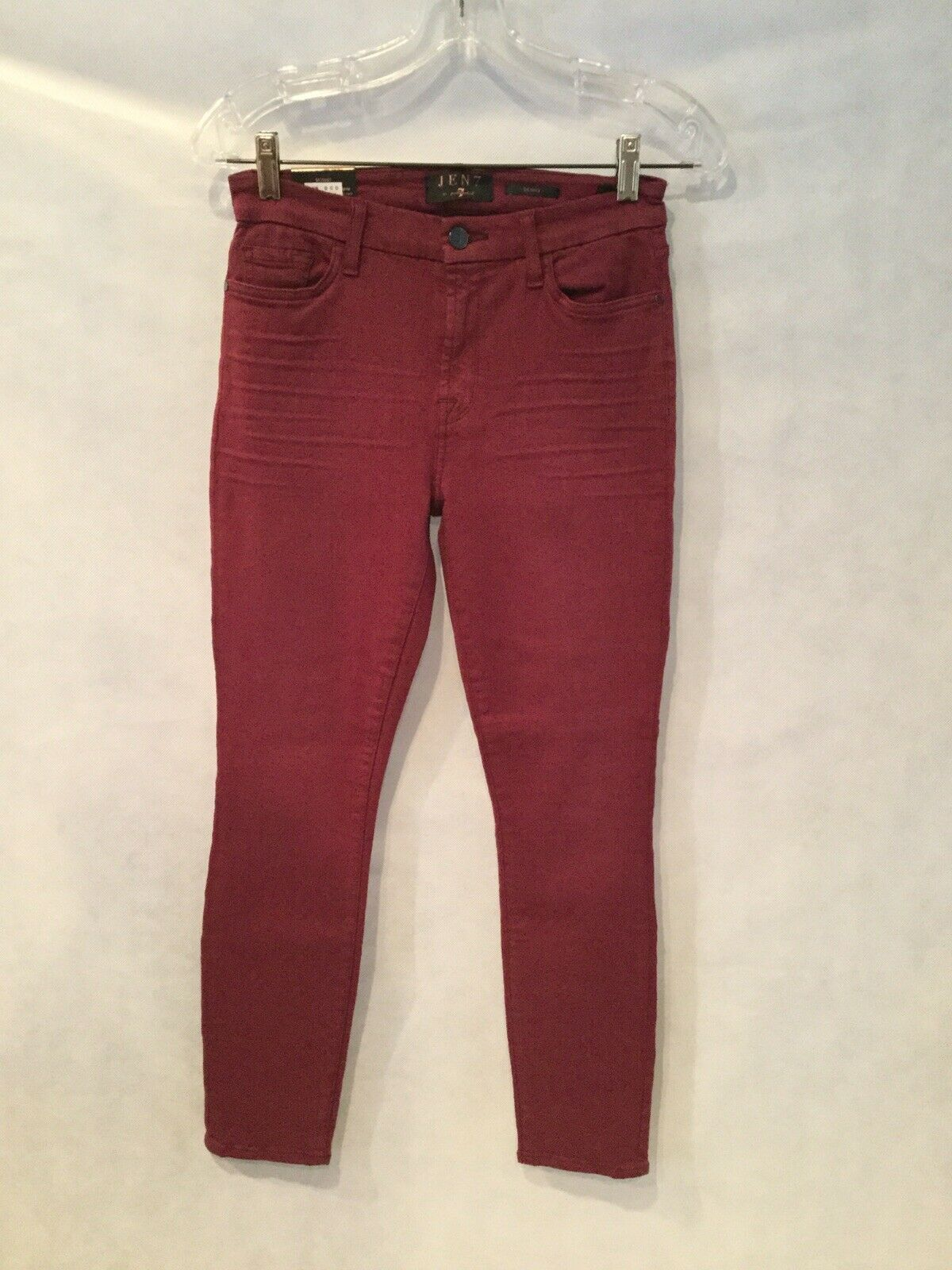 NWT JEN7 BY 7 FOR ALL MANKIND MID-RISE SKINNY TWILL PANTS-SZ 2