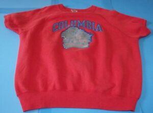 986ab54f Vintage 70's Columbia Champion Blue Bar Red Short Sleeve Sweatshirt ...