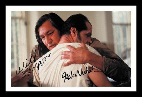 ONE FLEW OVER THE CUCKOOS NEST WILL SAMPSON JACK NICHOLSON SIGNED FRAMED  PHOTO